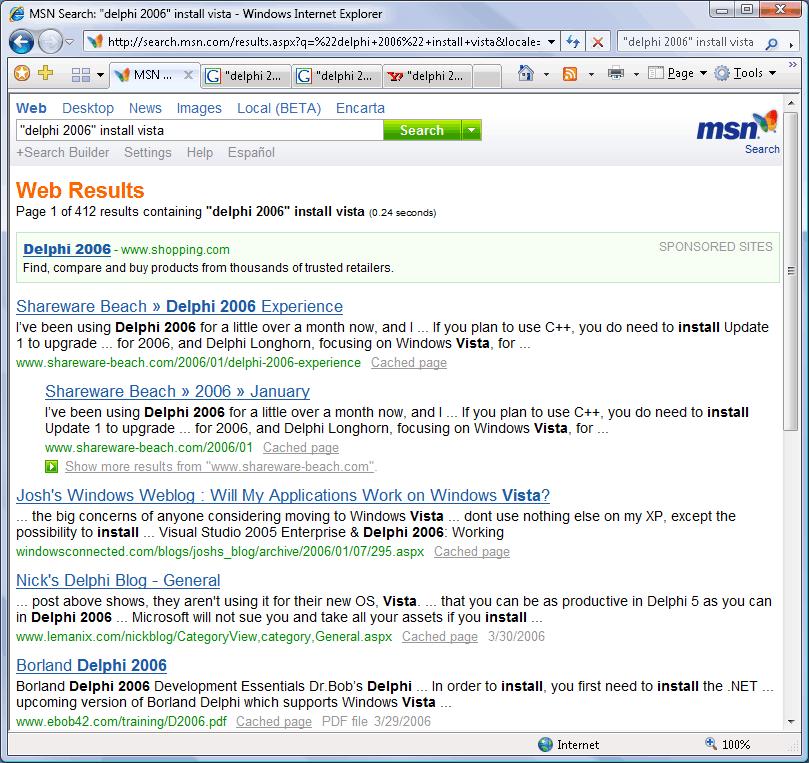 Shareware Beach » Top Rankings on Google, MSN and Yahoo