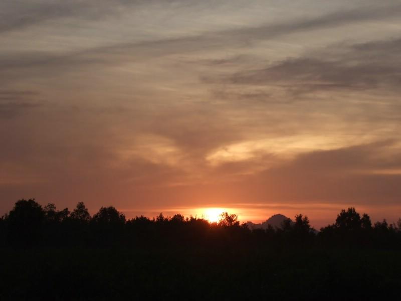 Sunrise at the Welu wetlands, Chanthaburi, Thailand