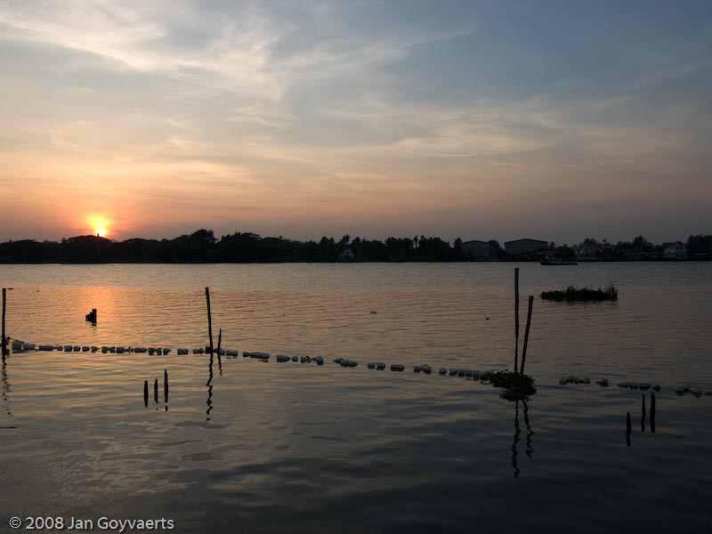 Sunset Over the Chao Praya River